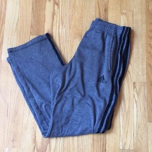 Adidas Gray Side Striped Sweatpants